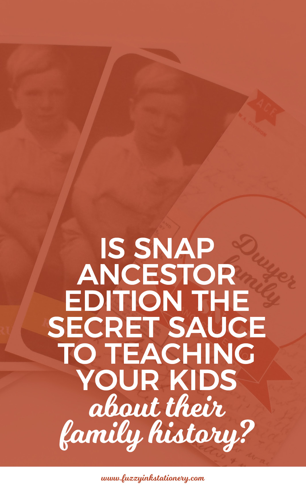 Is Fuzzy Ink Stationery's SNAP Ancestor Edition the secret sauce to teaching your kids about their family history?