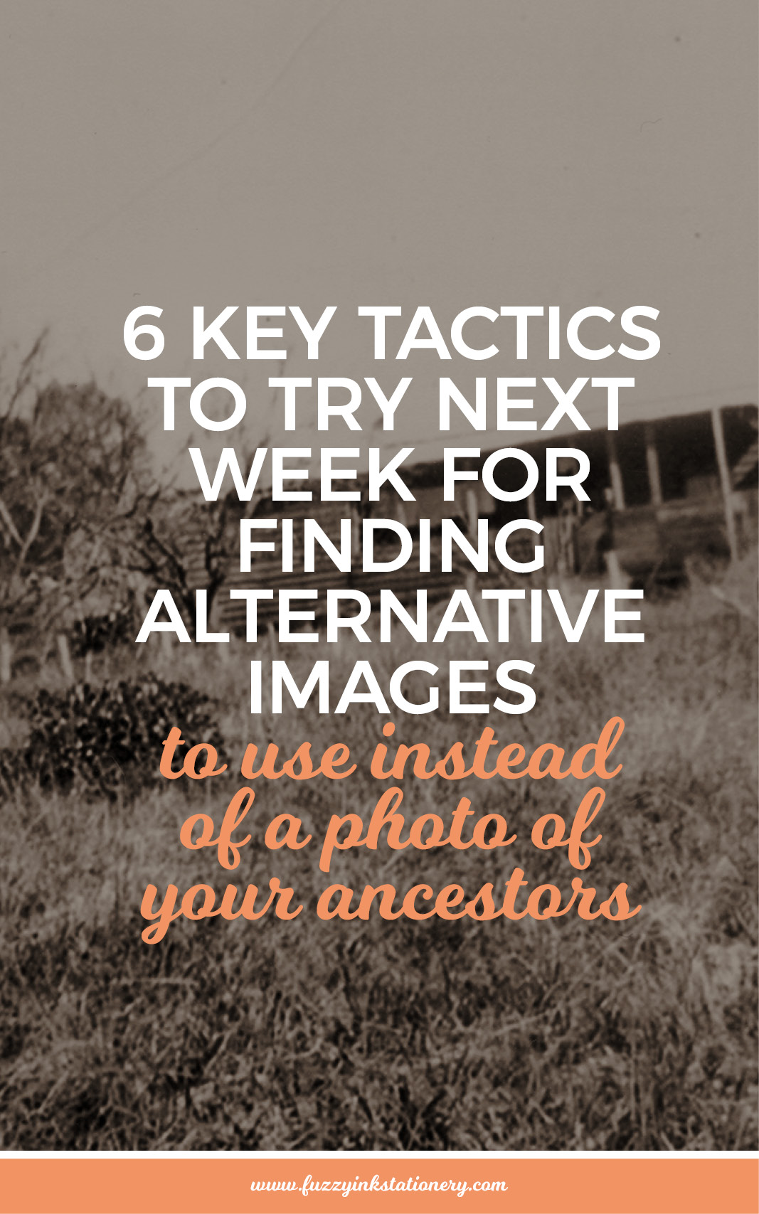 6 key tactics to try next week for finding alternative images to use instead of a photo of your ancestors