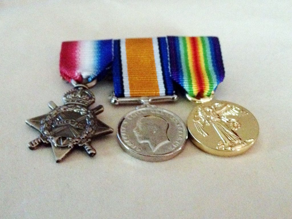 Use a photo of your ancestors replica medals as an alternative when you don't have a photo of them