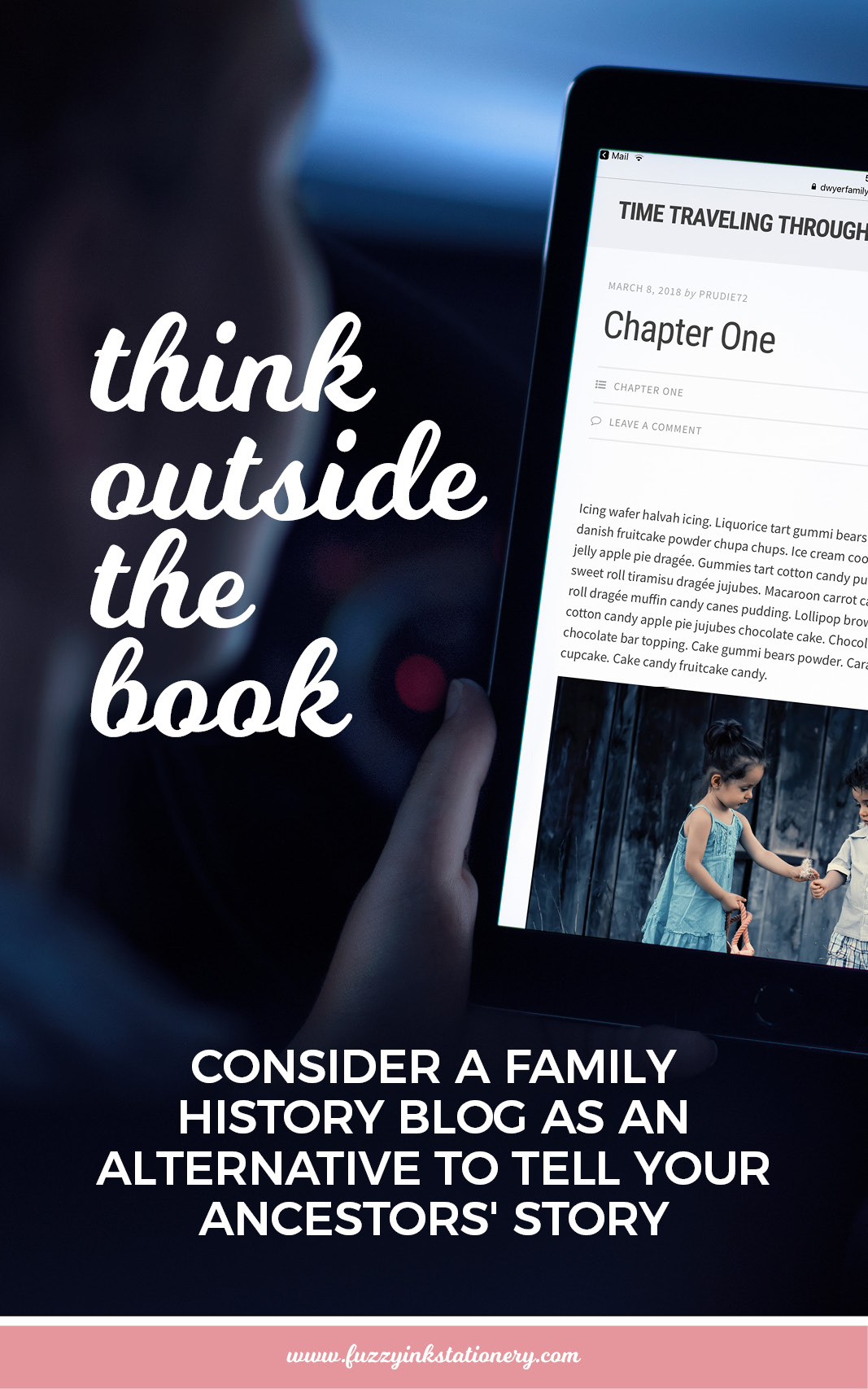 Think outside the book and consider a family history blog as an alternative way to tell your ancestors' story