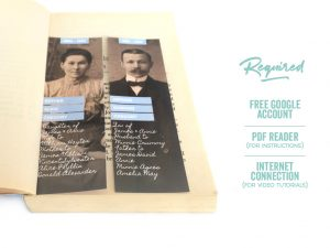 Fuzzy Ink Stationery Modern Ancestor Bookmarks for Google Slides