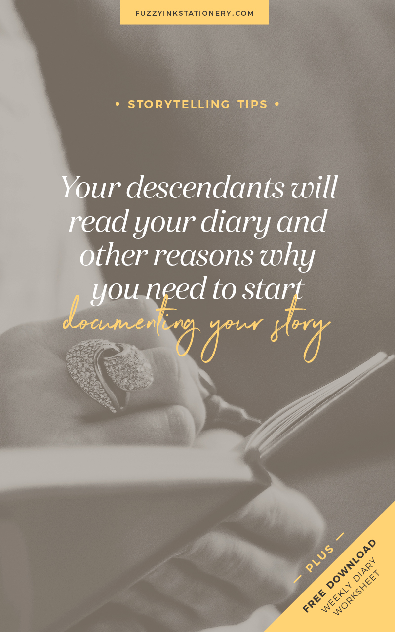 Fuzzy Ink Stationery shares ideas for genealogy researchers and family historians. Your descendants will read your diary and other reasons why you need to start documenting your story today.