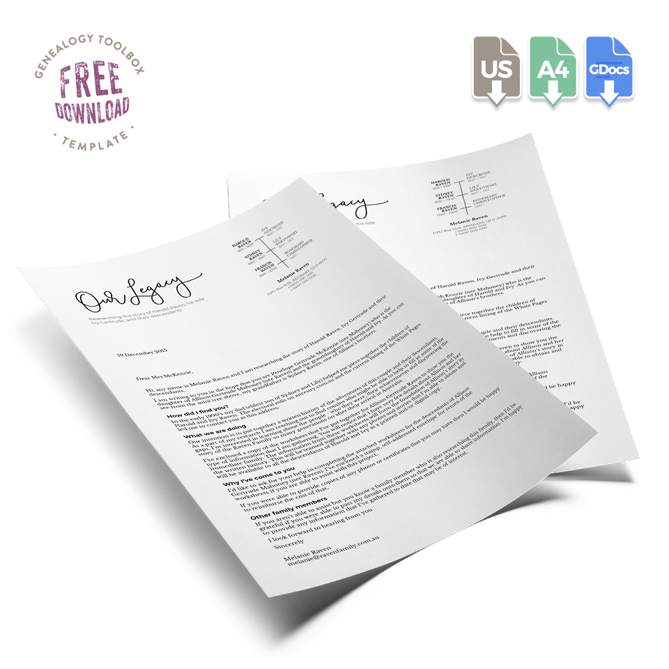 Fuzzy Ink Stationery Resource Library Download Family Tree Letterhead