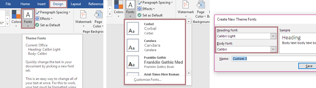 Fuzzy Ink Stationery | Software Quick Tips | 9 setup secrets for Using Microsoft Word | Font Theme