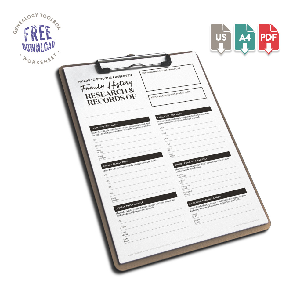 Fuzzy Ink Stationery | FREE DOWNLOAD | Preserve Your Research Planner