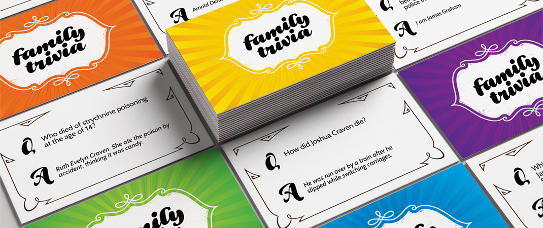 Classic Family Trivia Game Question Cards available on Etsy