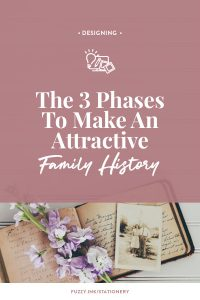 Are you ready to turn your genealogy into shareable stories? Find out the 3 phases required to make an attractive family history #familyhistory #ancestors #genealogy #design