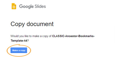 Google Slides Getting Started | make a copy to save to your Google drive