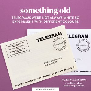 70th birthday memory telegrams paper printing suggestions