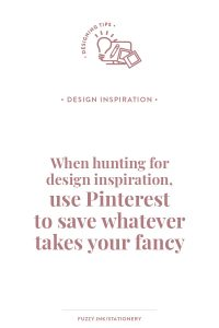 When hunting for design inspiration, use Pinterest to save whatever takes your fancy #familyhistory #designtips