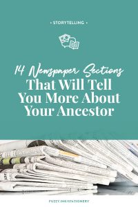 Fuzzy Ink Stationery | Storytelling | 13 Newspaper Sections That Will Tell You More About Your Ancestor