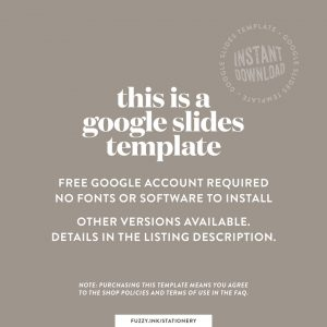 This is a google slides template promo