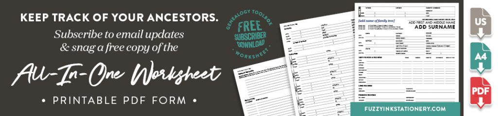 Subscribe to email updates and snag a free copy of the All-In-One Worksheet - Printable PDF form