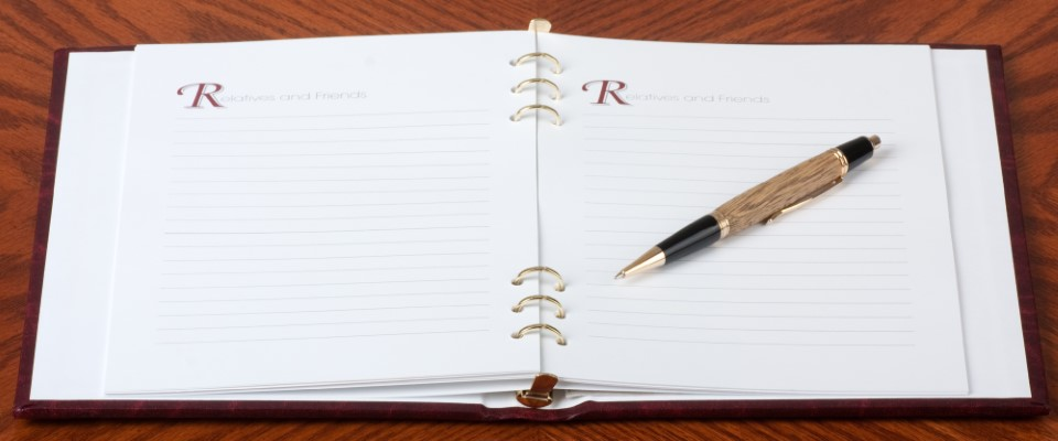 Collect memories with an event-specific guest book