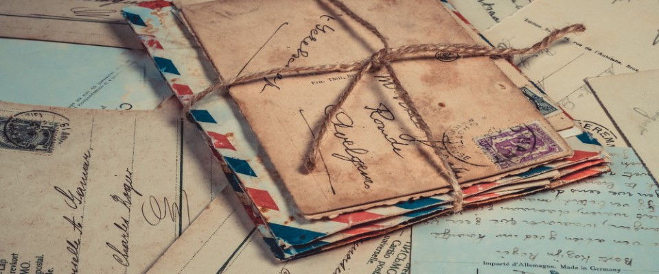 Collect memories with bundles of handwritten letters