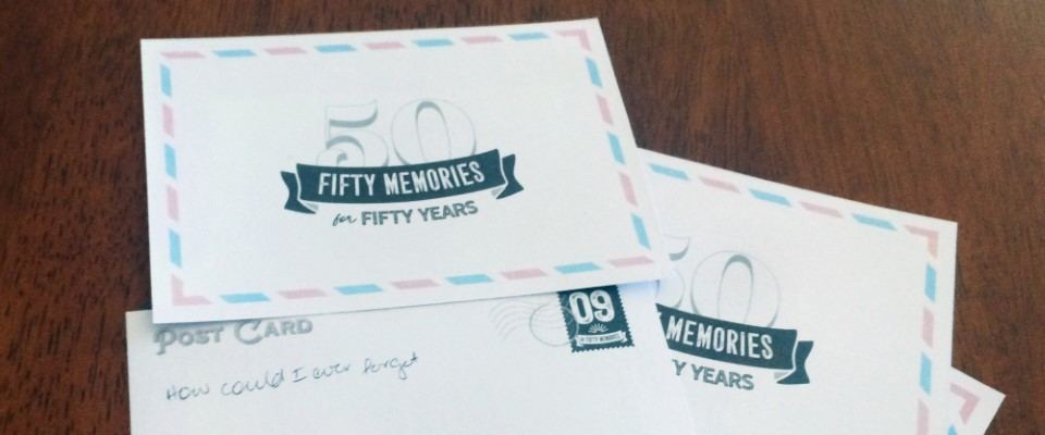 Collect memories with event-specific milestone memory postcards