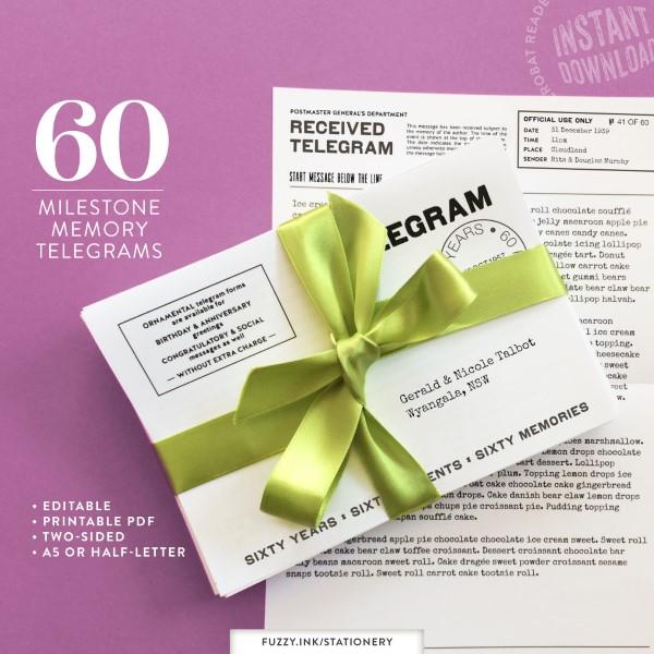 Collect memories on 60 milestone memory telegrams