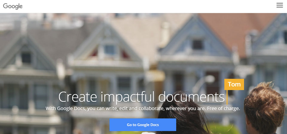 Google Docs home page for creating family history books