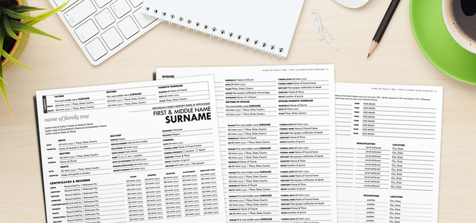Complete the Ultimate All-In-One Worksheet to help break through your genealogy brick walls