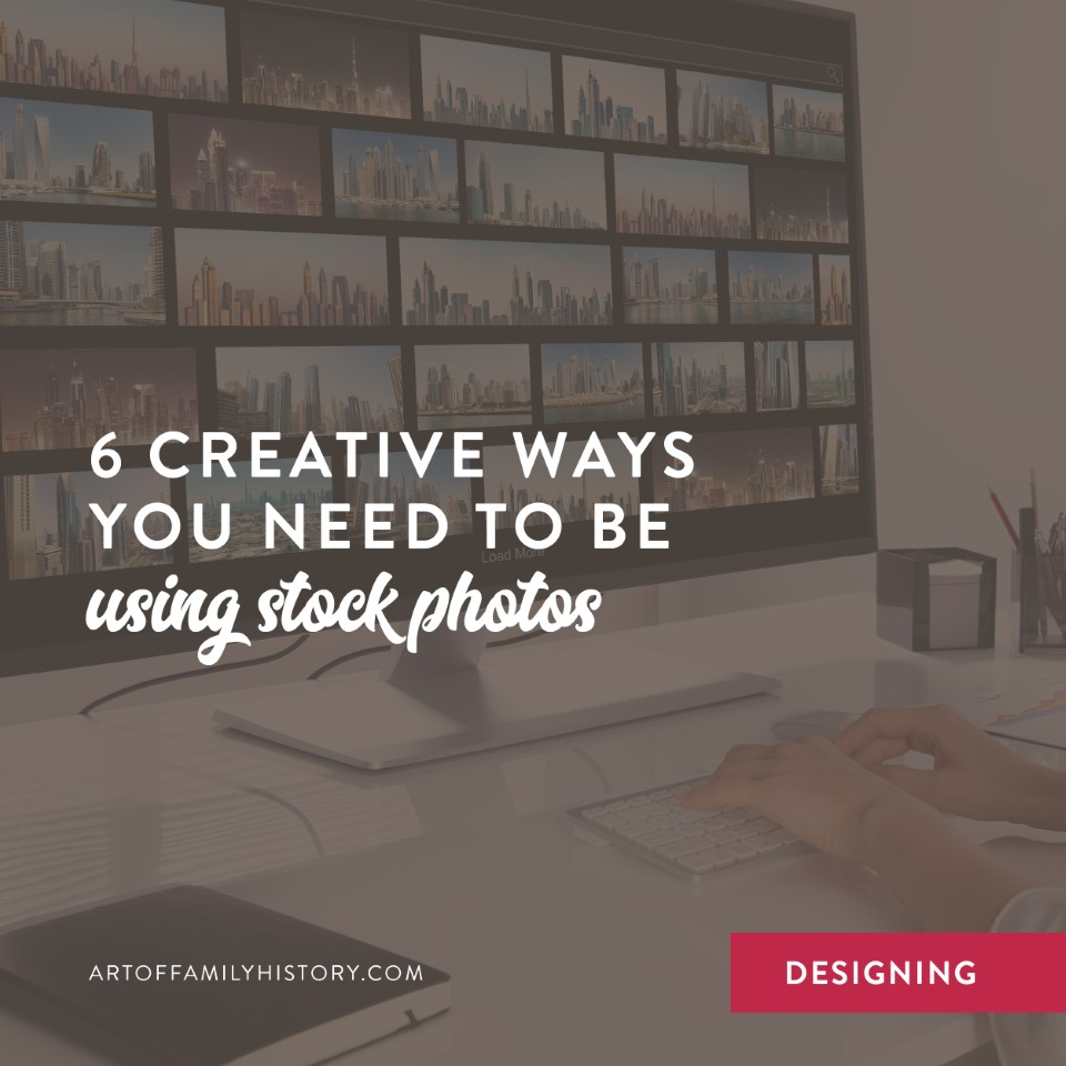 Fuzzy Ink Stationery Designing Tips | 6 creative ways you need to be using stock photos #familyhistory #designideas #booklayout