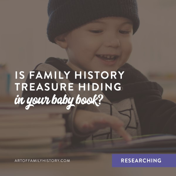 Fuzzy Ink Stationery | Researching | Is Family History Treasure Hiding In Your Baby Book?