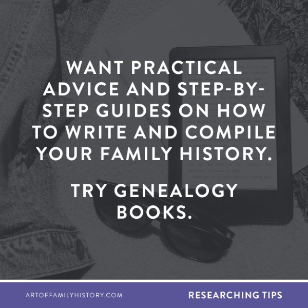 Fuzzy Ink Stationery Researching Tip: Want practical advice and step-by-step guides on how to write and compile your family history Try genealogy books. #genealogy #books #kindle