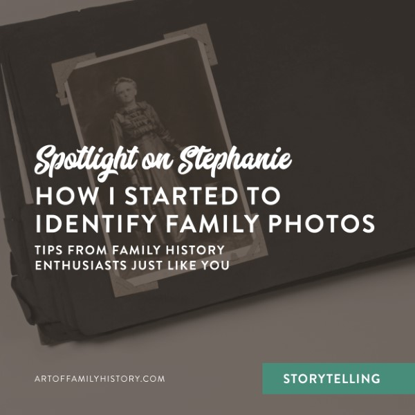Fuzzy Ink Stationery shines the spotlight on Stephanie to find out how she started to identify family photos #familyhistory #photos #cousins
