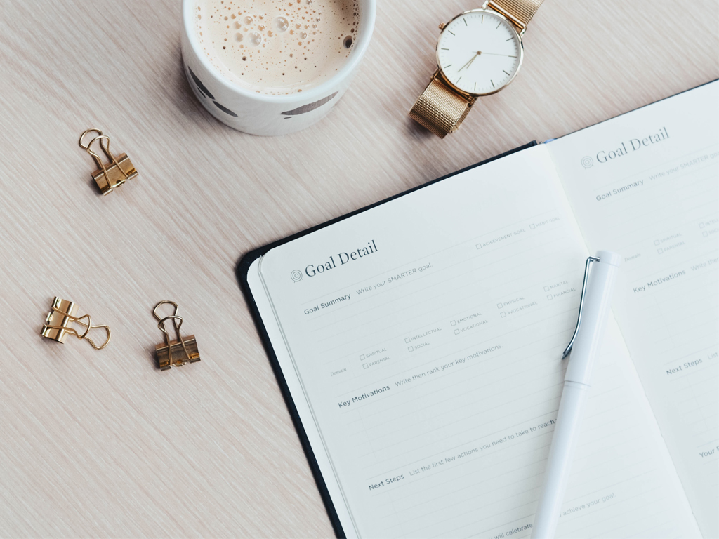 Cocoa, clips, watch and productivity planner to capture your 15-minute tasks